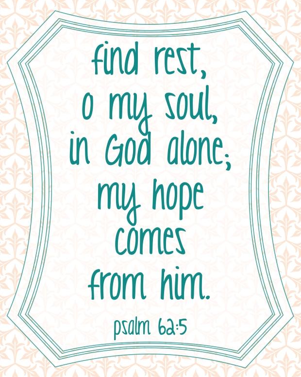 Psalm 62-5 Printable